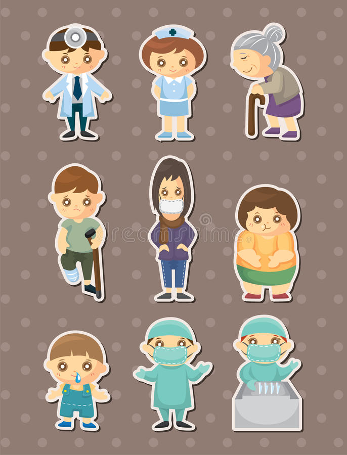Download Doctor element stickers stock vector. Image of child - 26558390
