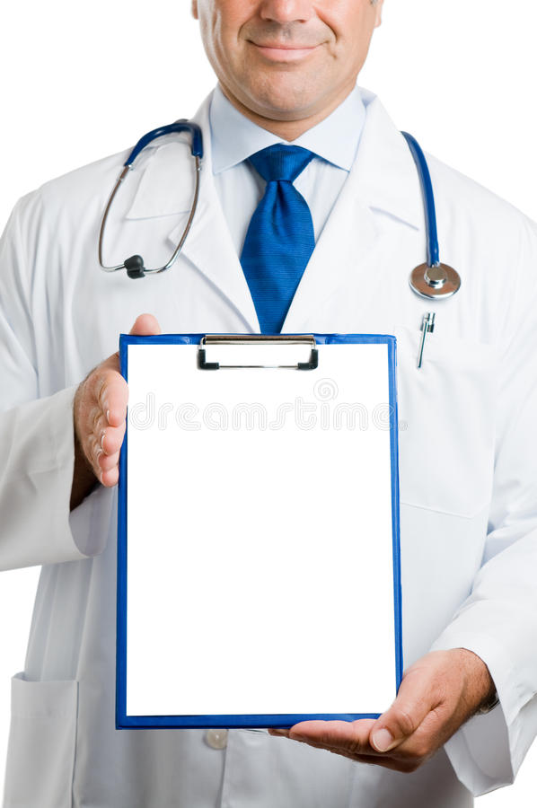 Download Doctor With Empty Clipboard Stock Image - Image: 17099939
