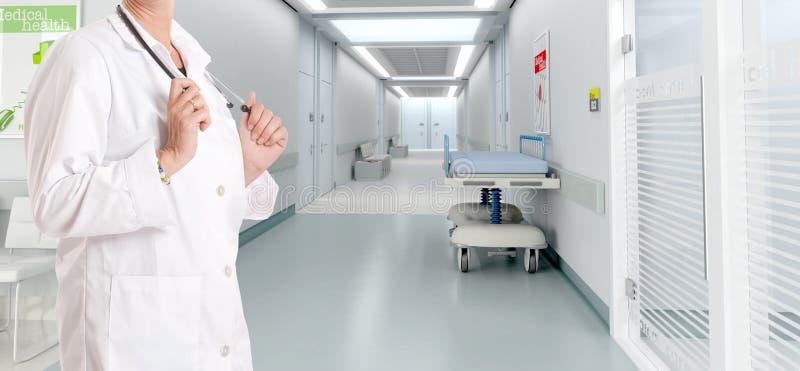 Doctor en el hospital imágenes de archivo libres de regalías