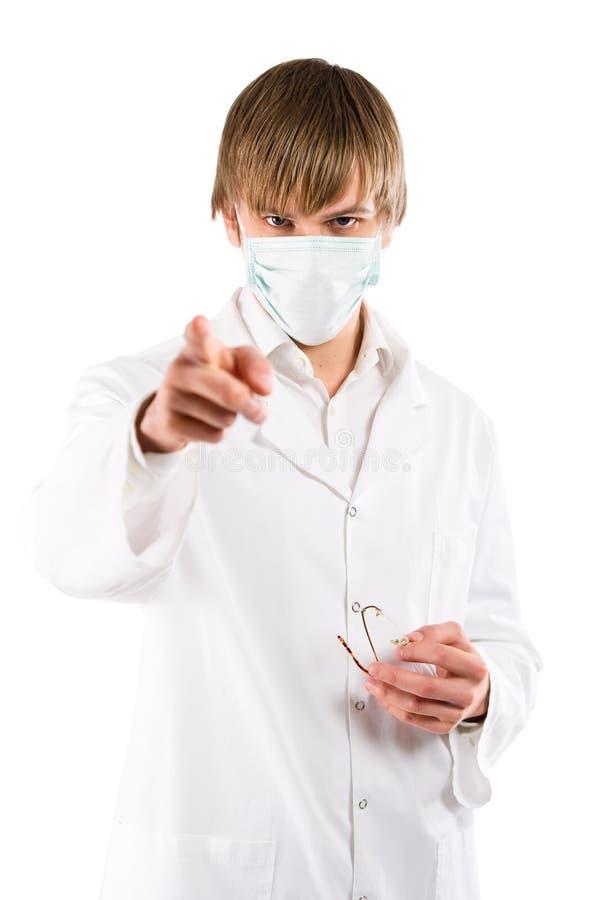 Doctor en máscara imagen de archivo libre de regalías