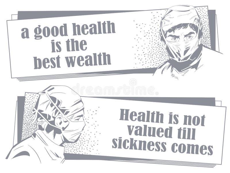 Doctor en máscara quirúrgica cotizaciones Ilustración común ilustración del vector