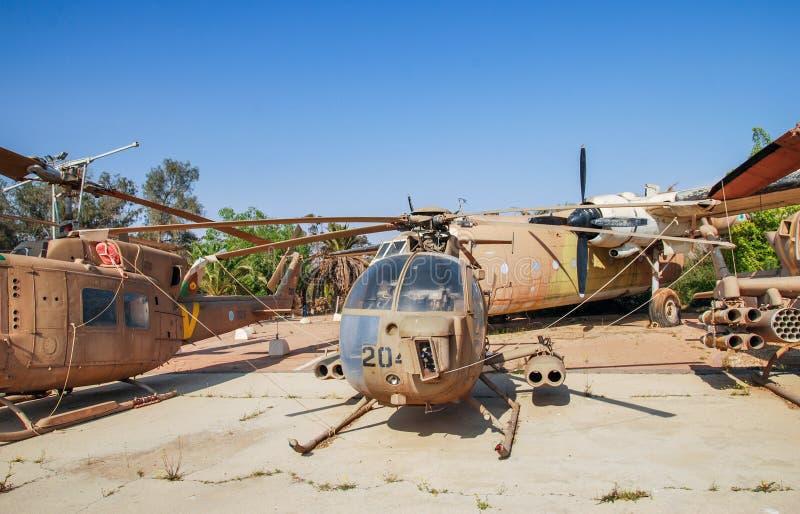 Doctor en Medicina 500 defensor de McDonnell Douglas del vintage exhibido en el museo israelí de la fuerza aérea fotos de archivo libres de regalías