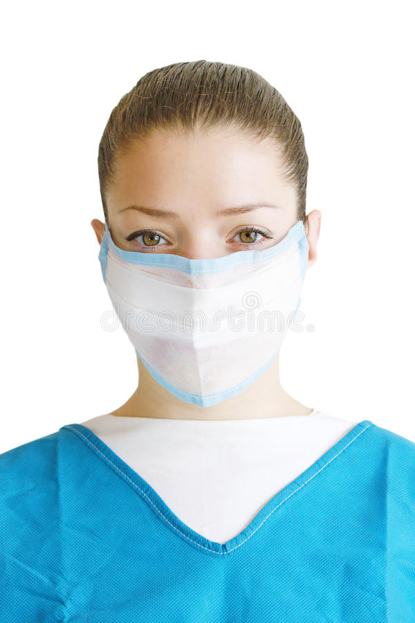 Doctor en una máscara imagen de archivo libre de regalías