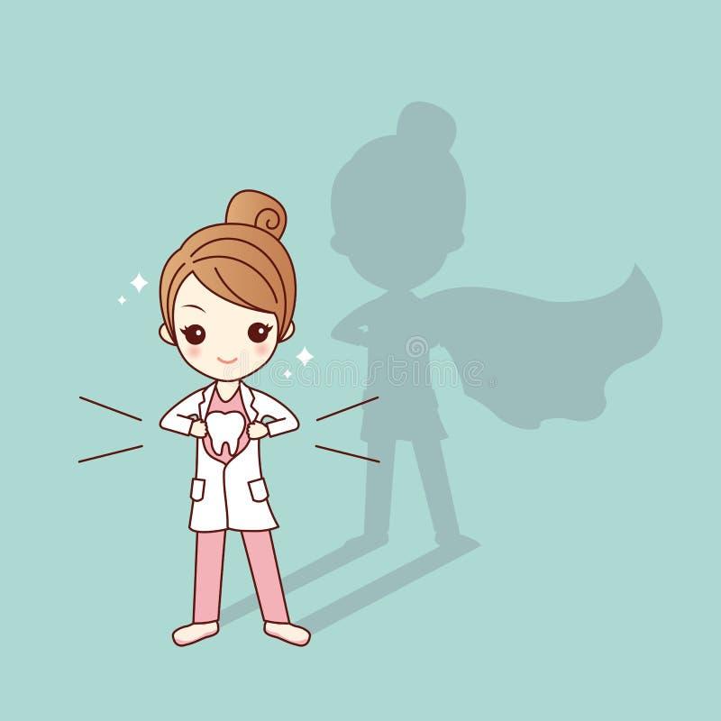 Doctor estupendo del dentista de la historieta linda libre illustration