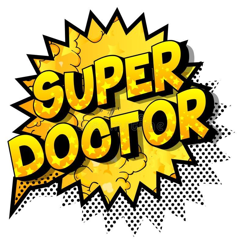 Doctor estupendo - frase del estilo del cómic libre illustration