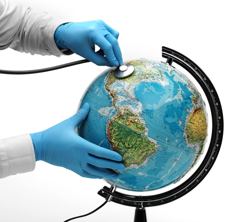 Download Doctor examine globe stock photo. Image of menace, illness - 7365430
