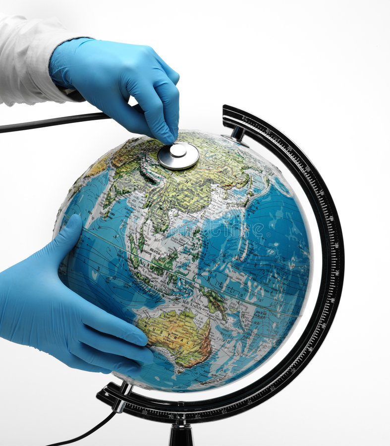 Download Doctor examine globe stock photo. Image of earth, planet - 7365504