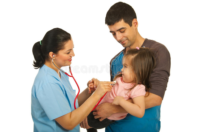 Download Doctor Examine Toddler Girl Stock Photo - Image of clinic, caucasian: 23473688