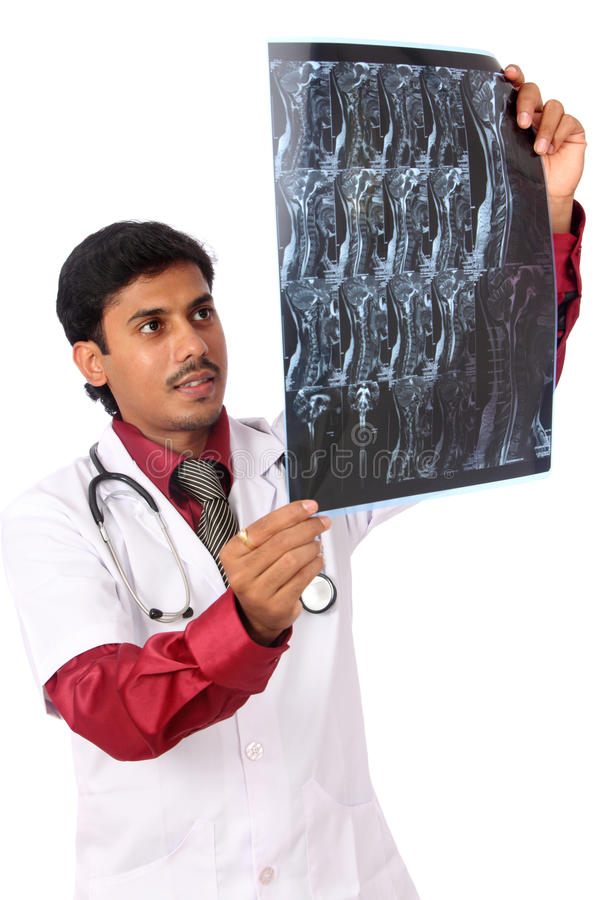 Download Doctor examining the X-ray stock image. Image of negative - 21024717