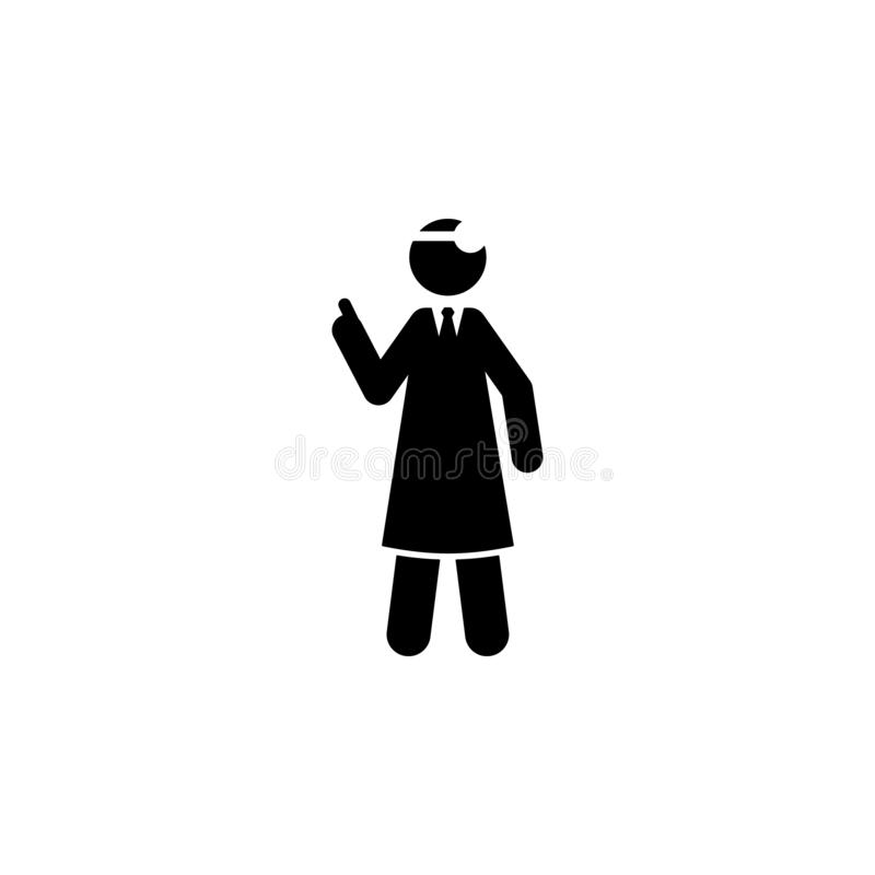 Doctor, explain icon. Element of cyber monday icon for mobile concept and web apps. Glyph style doctor, explain icon can be used f. Or web and mobile on white vector illustration