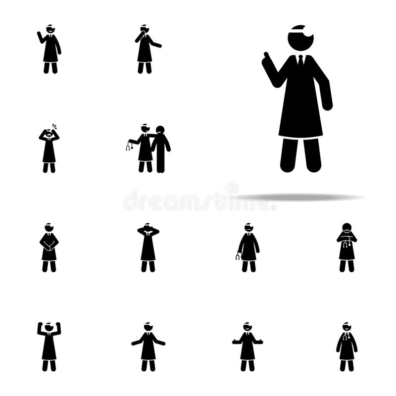 Doctor, explain icon. doctor icons universal set for web and mobile. On white background vector illustration