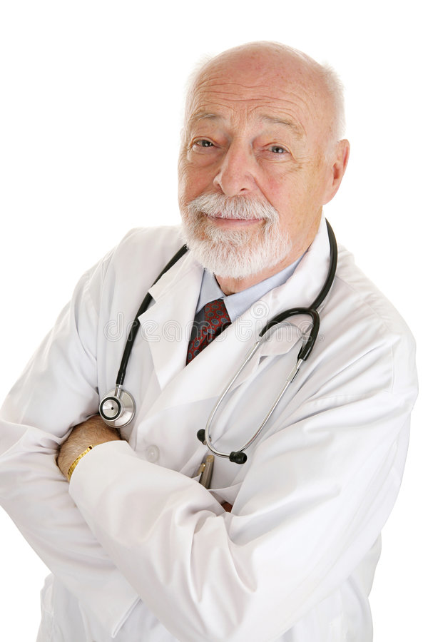 Doctor - Face of Experience stock image