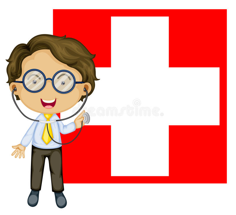 Download A Doctor In Front Of The Switzerland Flag Stock Illustration - Illustration of national, human: 33316090
