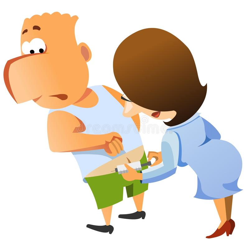 Download Doctor Giving Patient An Injection. Stock Illustration - Image: 15140494