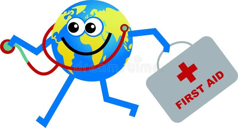Doctor globe stock illustration