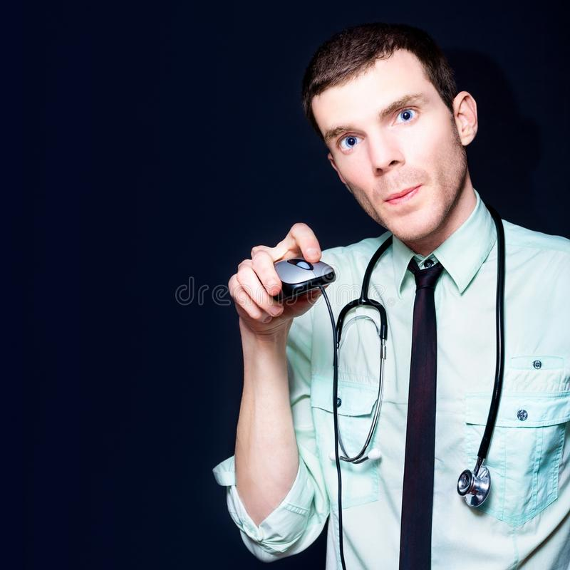 Doctor Going Online For Medical Health Care Stock Images