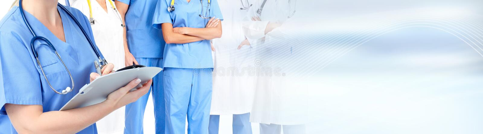 Doctor hands. Medical doctor pharmacist hands. Health care clinic background royalty free stock photography
