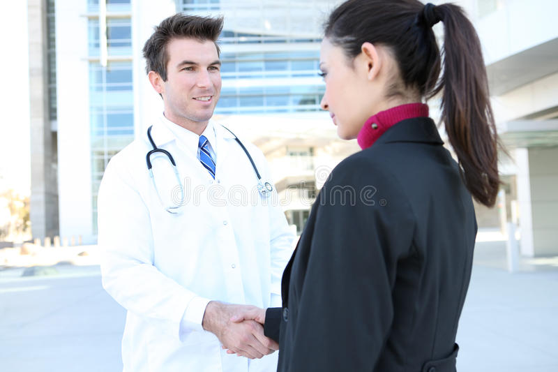 Doctor Handshake with Patient royalty free stock photo