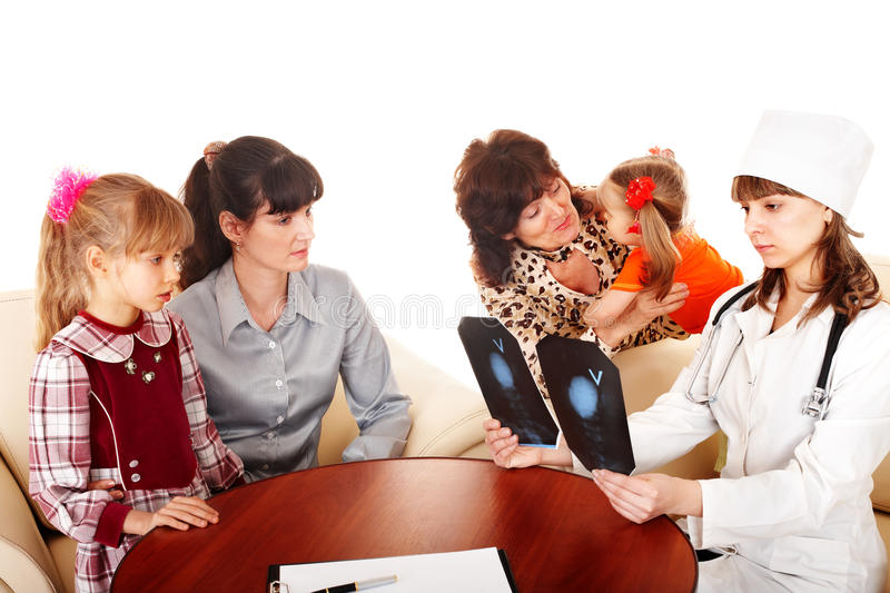Download Doctor and happy family. stock photo. Image of family - 13011810