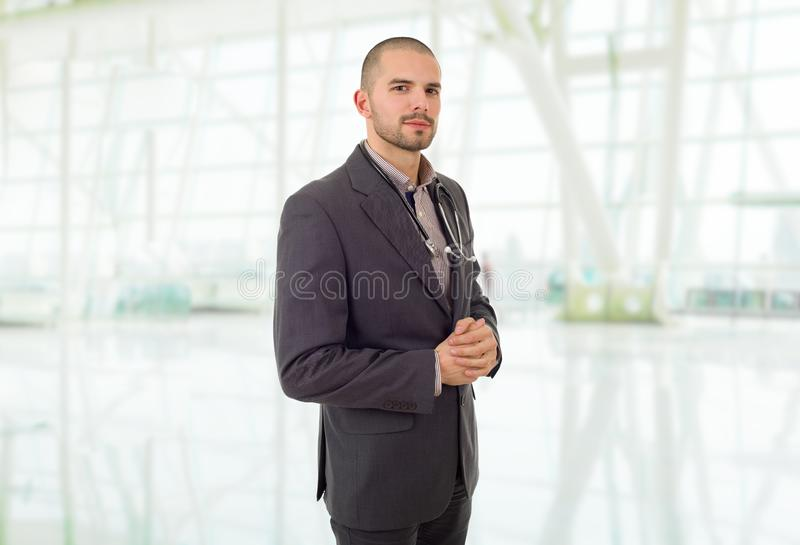 Doctor. Happy male doctor, at the office royalty free stock images