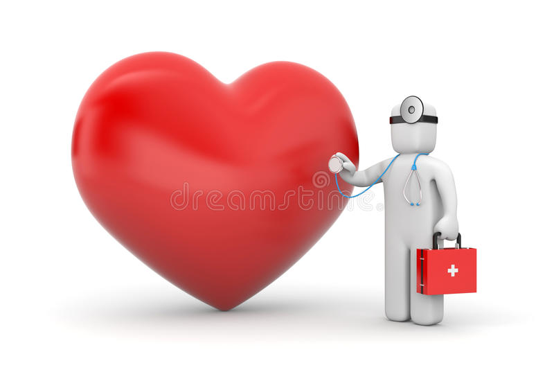 Download Doctor With Heart And Stethoscope Stock Illustration - Image: 32532892