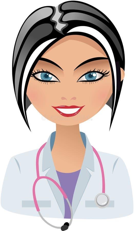 Doctor hermoso sonriente con Sthetoscope stock de ilustración