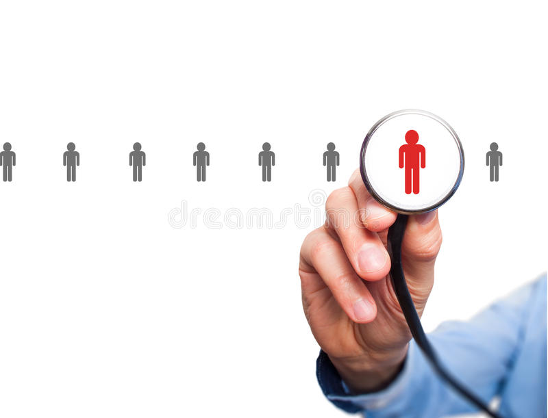 Doctor hiring personnel royalty free stock image