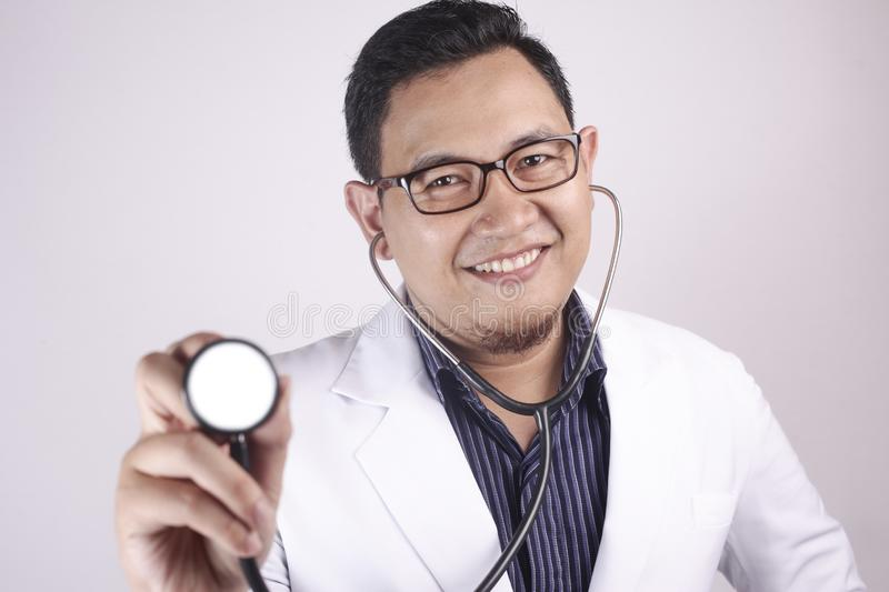 Doctor Hold A Stethoscope stock photos