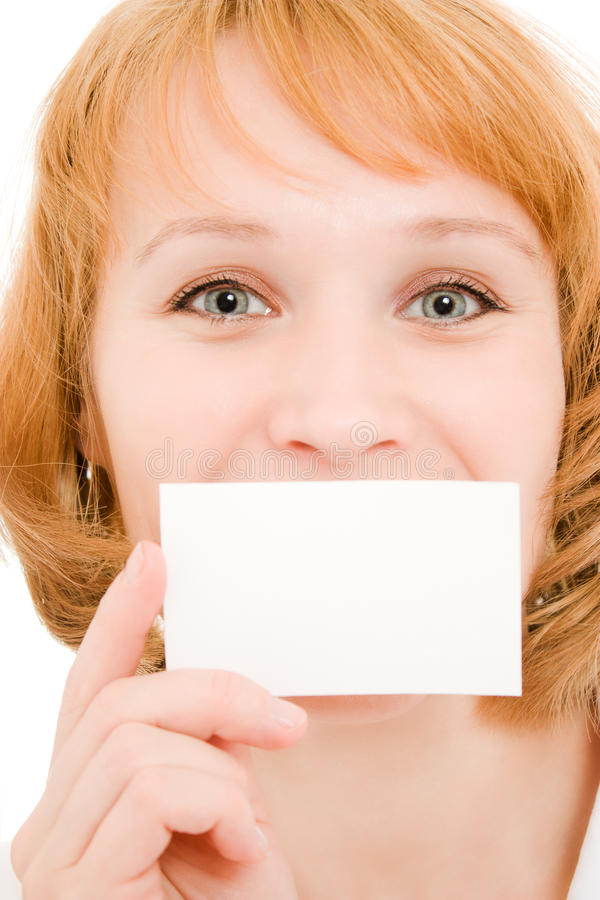 Download Doctor holding blank card stock photo. Image of nurse - 21532894