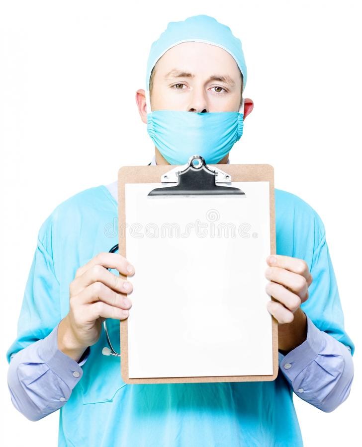 Doctor Holding Blank Clipboard Royalty Free Stock Photos