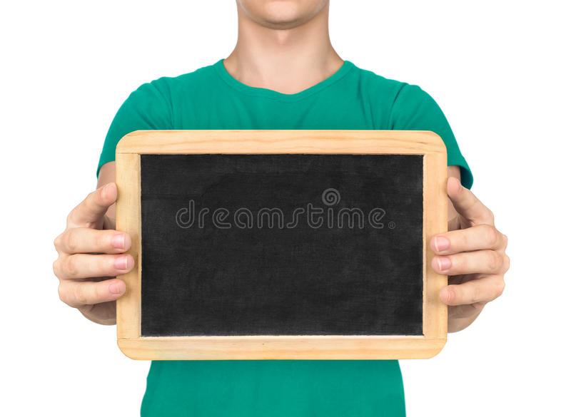 Doctor holding the Board to communicate with deaf people stock images