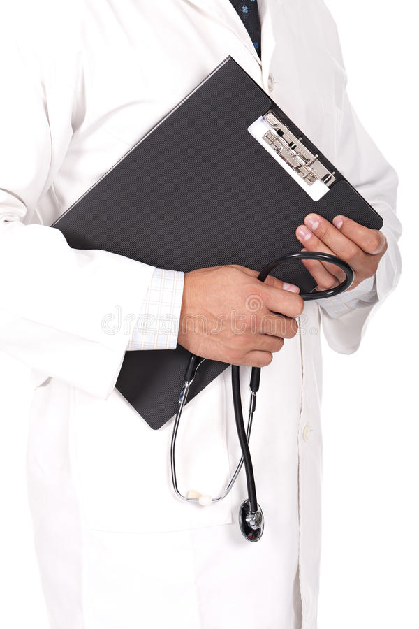 Download Doctor Holding Note Books And Stetoscope Stock Photo - Image: 22366868