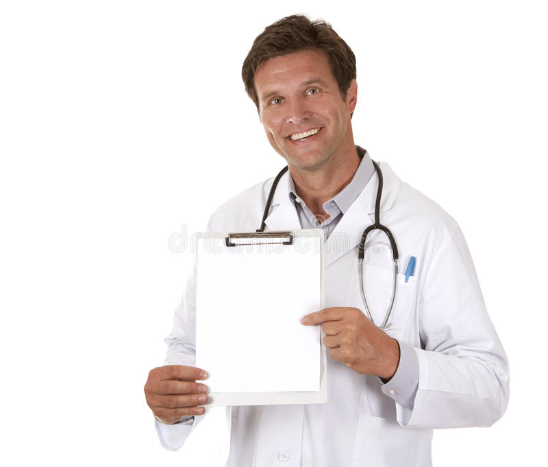 Download Doctor holding notes stock photo. Image of caucasian - 26485936