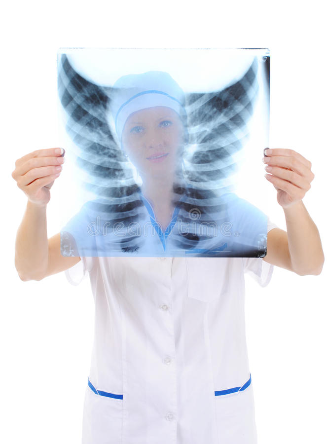 Doctor holding an x-ray