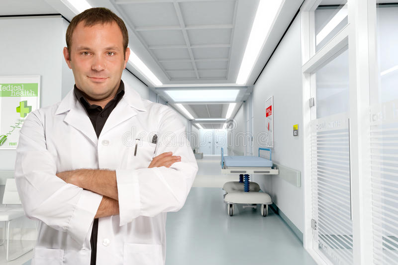 Download Doctor At Hospital Corridor Royalty Free Stock Image - Image: 19451636