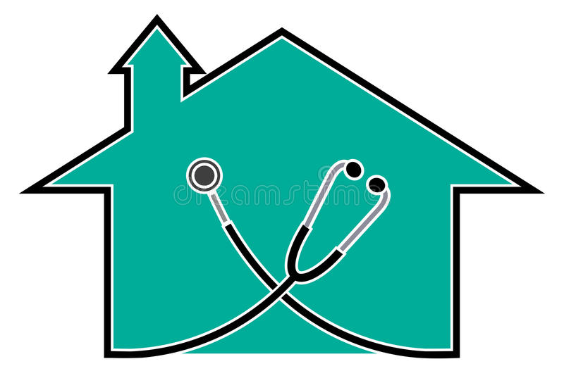Doctor house vector illustration