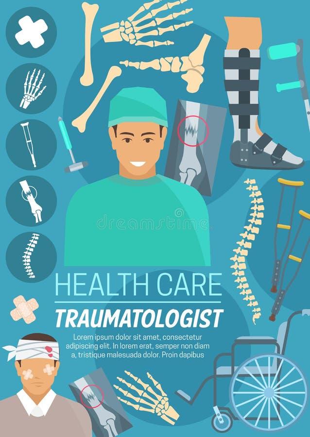 Doctor, huesos y juntas del Traumatologist libre illustration