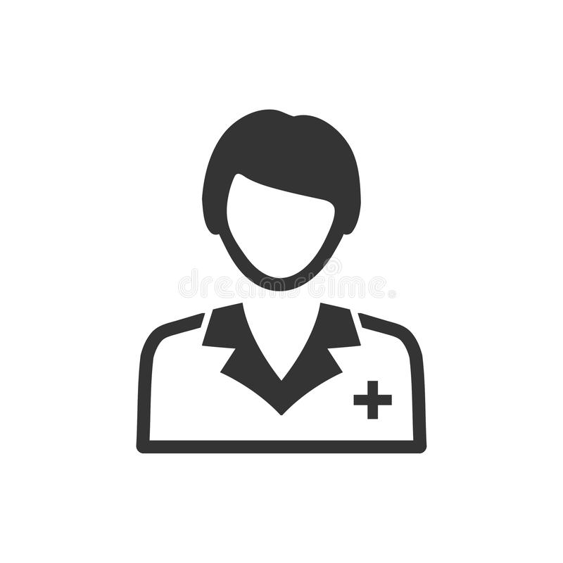 Doctor Icon. Beautiful, meticulously designed Doctor Icon. Perfect for use in designing and developing websites, printed materials and presentations, Promotional vector illustration