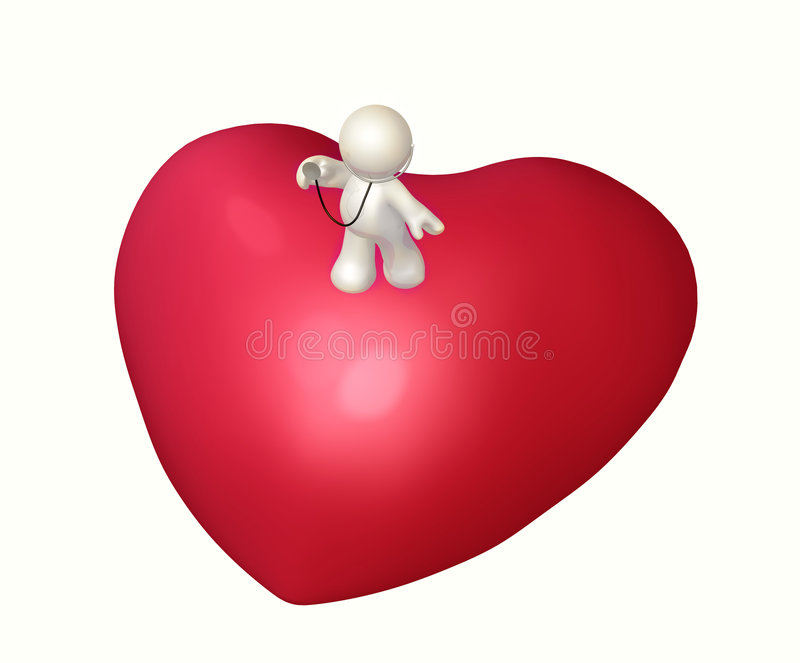 Download Doctor Icon Figure Checking Heart Condition Stock Illustration - Image: 8559135