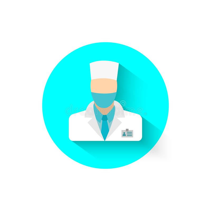 Doctor icon is a symbol of medicine. Medical worker, health care Vector illustration for your projects vector illustration