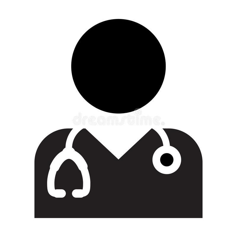 Doctor Icon Vector With Stethoscope For Medical Consultation