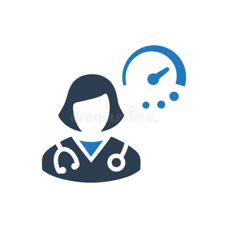 Doctor icono de servicio stock de ilustración