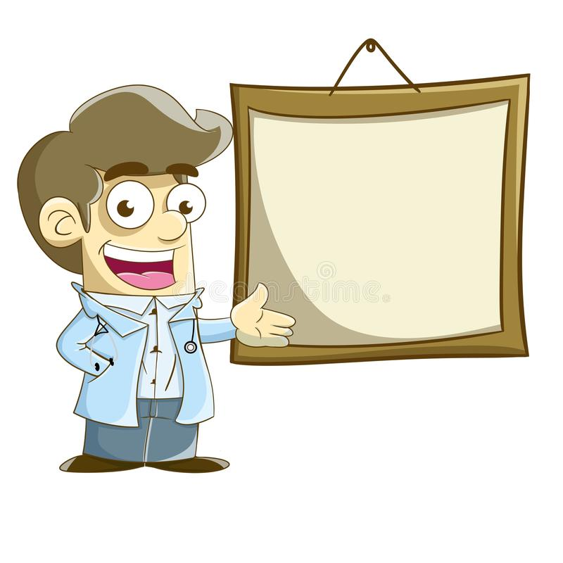 A doctor with blank board stock photography