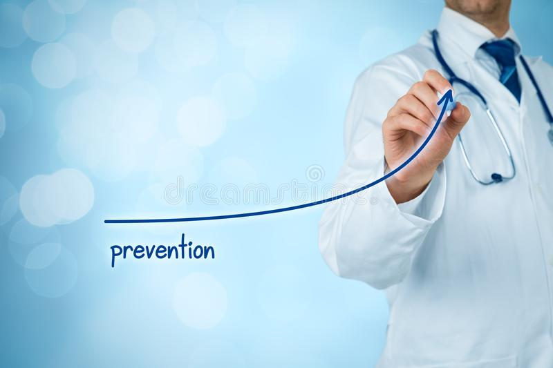 Doctor improve prevention. Doctor improve patient prevention and better access to medical and healthcare supervision. Medical practitioner motivate patients to stock photography