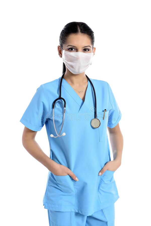 Free Doctor In A Medical Mask; Corona. Protection. Sterile Equipment For The Medical And Beauty In Stock Photography - 176703162