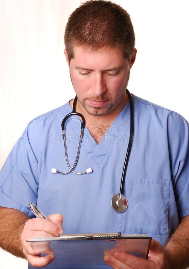 Free Doctor In Blue Scrubs Royalty Free Stock Photo - 3243675