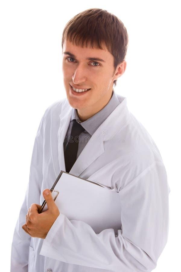 Doctor joven feliz imagen de archivo libre de regalías