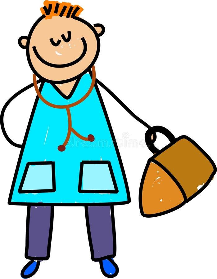 Doctor kid royalty free illustration