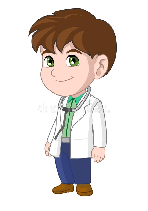 doctor kid stock vector illustration of baby costume 56952191 rh dreamstime com Doctors and Nurses Clip Art cute doctor clipart