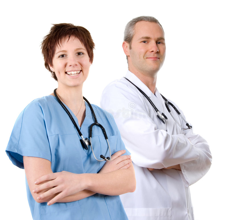Doctor in labcoat royalty free stock photography